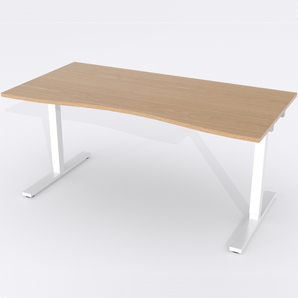 Skrivbord Ursågad Manuell 180x82 cm Ekfanér