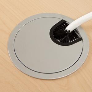 Skrivbord Rektangulär Elektrisk 160x80 cm HP Laminat Vit