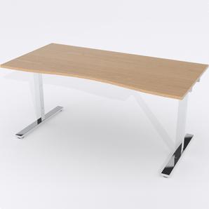 Skrivbord Ursågad Elektrisk 180x82 cm Ekfanér
