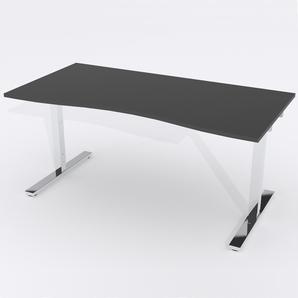 Skrivbord Ursågad Manuell 164x82 cm Laminat Svart