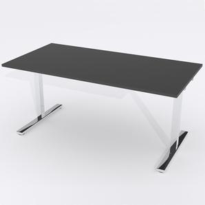 Skrivbord Rektangulär Elektrisk 120x80 cm Laminat Svart
