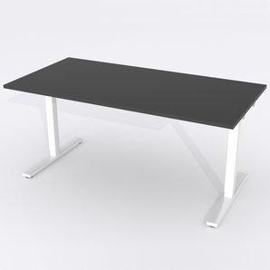 Skrivbord Rektangulär Manuell 140x80 cm HP Laminat Svart
