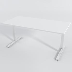 Skrivbord Rektangulär Manuell 140x80 cm Laminat Vit