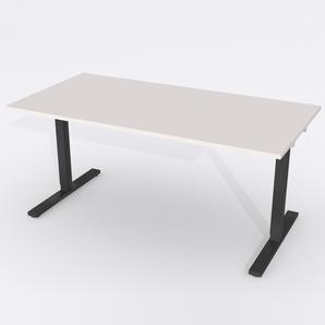 Skrivbord Rektangulär Manuell 160x80 cm Laminat Ljusgrå