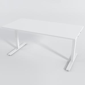 Skrivbord Rektangulär Manuell 160x80 cm Laminat Vit