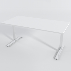 Skrivbord Rektangulär Manuell 120x80 cm Laminat Vit