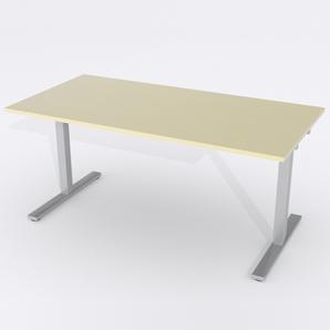 Skrivbord Rektangulär Elektrisk 160x80 cm Björkfanér