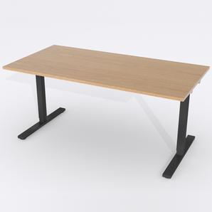 Skrivbord Rektangulär Elektrisk 160x80 cm Ekfanér
