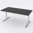 Skrivbord Rektangulär Elektrisk 160x80 cm HP Laminat Svart
