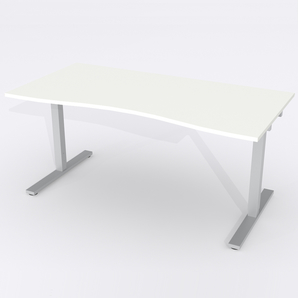 Skrivbord Ursågad Elektrisk 180x82 cm Laminat Vit