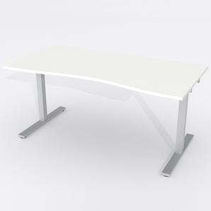 Skrivbord Ursågad Manuell 164x82 cm HP Laminat Vit