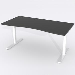 Skrivbord Ursågad Elektrisk 164x82 cm Laminat Svart