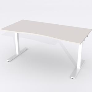 Skrivbord Ursågad Elektrisk 180x82 cm Laminat Ljusgrå
