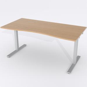 Skrivbord Ursågad Elektrisk 164x82 cm Ekfanér