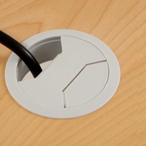 Skrivbord Ursågad Elektrisk 164x82 cm Björkfanér
