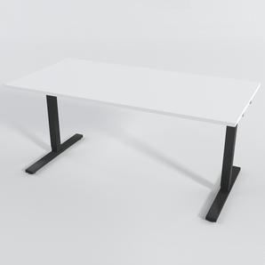Skrivbord Rektangulär Manuell 140x80 cm HP Laminat Vit