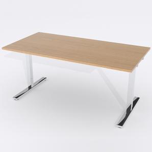 Skrivbord Rektangulär Manuell 180x80 cm Ekfanér
