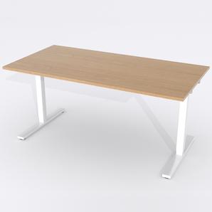 Skrivbord Rektangulär Elektrisk 120x80 cm Ekfanér