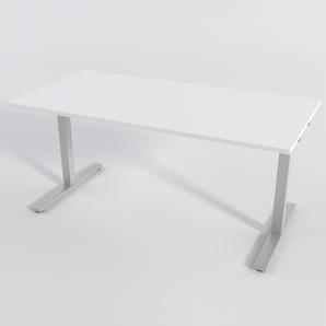 Skrivbord Rektangulär Manuell 180x80 cm Laminat Vit